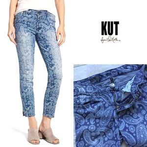 Kut From The Kloth paisley Eva skinny ankle jeans